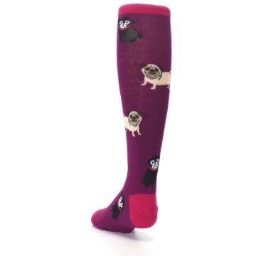 Image of Purple Pug Life Kid's Knee High Socks (side-2-back-16)
