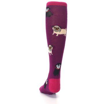 Image of Purple Pug Life Kid's Knee High Socks (back-17)