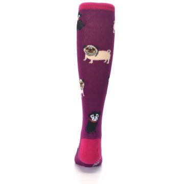 Image of Purple Pug Life Kid's Knee High Socks (back-18)