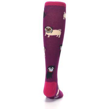 Image of Purple Pug Life Kid's Knee High Socks (back-19)