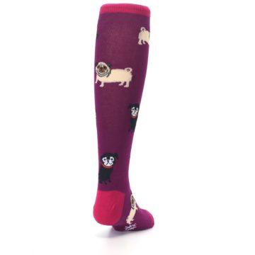Image of Purple Pug Life Kid's Knee High Socks (side-1-back-20)