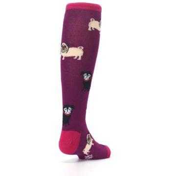 Image of Purple Pug Life Kid's Knee High Socks (side-1-back-21)