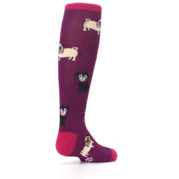 Image of Purple Pug Life Kid's Knee High Socks (side-1-back-22)