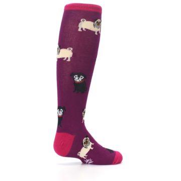 Image of Purple Pug Life Kid's Knee High Socks (side-1-23)