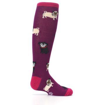 Image of Purple Pug Life Kid's Knee High Socks (side-1-24)