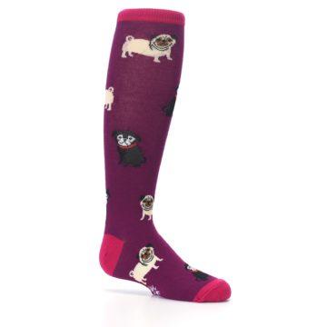Image of Purple Pug Life Kid's Knee High Socks (side-1-25)