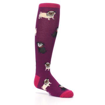 Image of Purple Pug Life Kid's Knee High Socks (side-1-26)