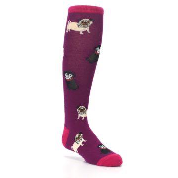 Image of Purple Pug Life Kid's Knee High Socks (side-1-27)