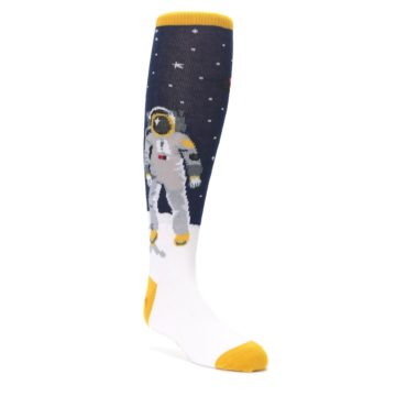Image of Navy Moon Astronaut Kid's Knee High Socks (side-1-front-01)