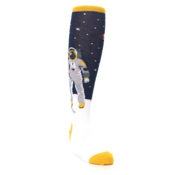 Image of Navy Moon Astronaut Kid's Knee High Socks (side-1-front-02)
