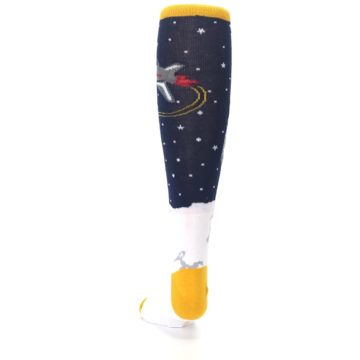 Image of Navy Moon Astronaut Kid's Knee High Socks (back-17)
