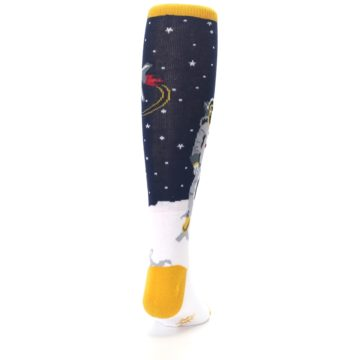 Image of Navy Moon Astronaut Kid's Knee High Socks (back-19)