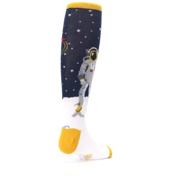 Image of Navy Moon Astronaut Kid's Knee High Socks (side-1-back-21)