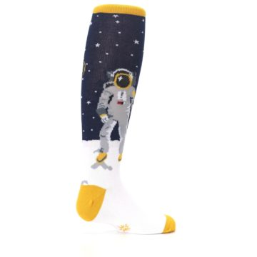 Image of Navy Moon Astronaut Kid's Knee High Socks (side-1-23)
