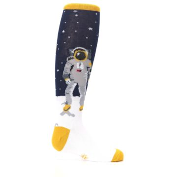 Image of Navy Moon Astronaut Kid's Knee High Socks (side-1-24)