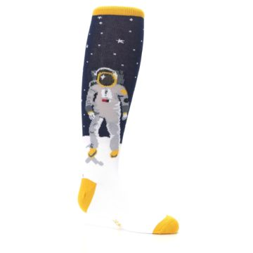Image of Navy Moon Astronaut Kid's Knee High Socks (side-1-25)