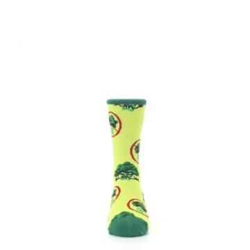 Image of Green Broccoli Monster Kid's Dress Socks (front-04)