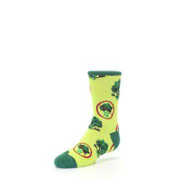 Image of Green Broccoli Monster Kid's Dress Socks (side-2-front-08)