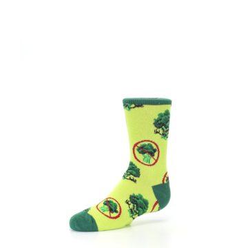 Image of Green Broccoli Monster Kid's Dress Socks (side-2-09)