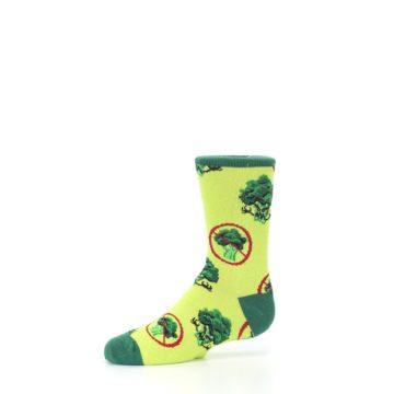 Image of Green Broccoli Monster Kid's Dress Socks (side-2-10)