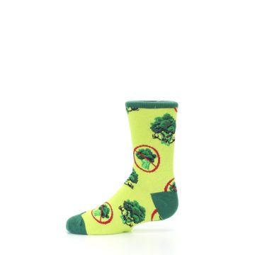 Image of Green Broccoli Monster Kid's Dress Socks (side-2-11)