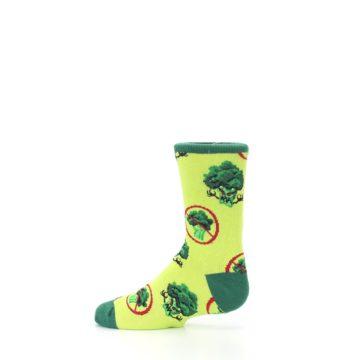 Image of Green Broccoli Monster Kid's Dress Socks (side-2-12)