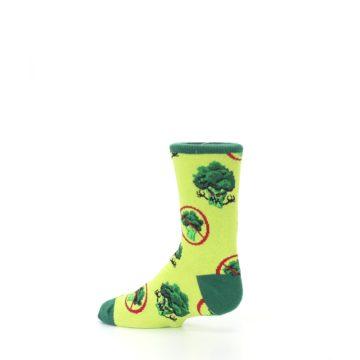 Image of Green Broccoli Monster Kid's Dress Socks (side-2-13)