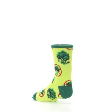 Image of Green Broccoli Monster Kid's Dress Socks (side-2-back-14)