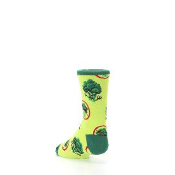 Image of Green Broccoli Monster Kid's Dress Socks (side-2-back-15)