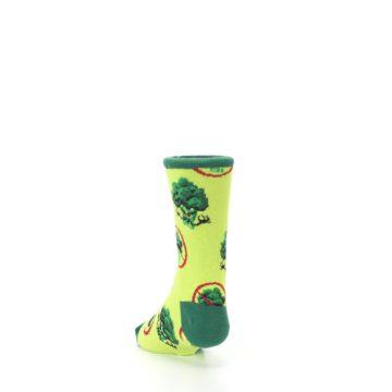 Image of Green Broccoli Monster Kid's Dress Socks (side-2-back-16)