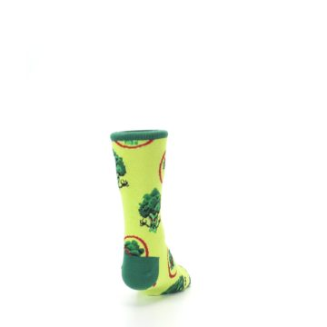 Image of Green Broccoli Monster Kid's Dress Socks (back-19)