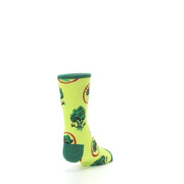 Image of Green Broccoli Monster Kid's Dress Socks (side-1-back-20)
