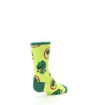 Image of Green Broccoli Monster Kid's Dress Socks (side-1-back-21)