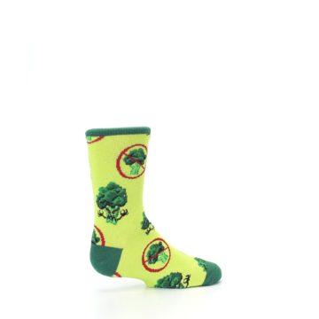Image of Green Broccoli Monster Kid's Dress Socks (side-1-23)