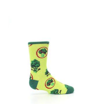 Image of Green Broccoli Monster Kid's Dress Socks (side-1-24)