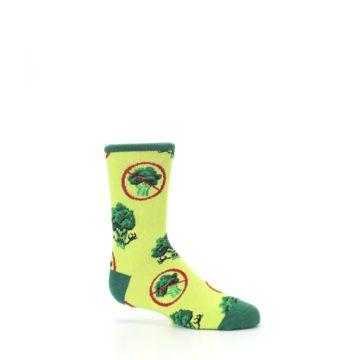 Image of Green Broccoli Monster Kid's Dress Socks (side-1-25)