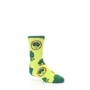 Image of Green Broccoli Monster Kid's Dress Socks (side-1-26)