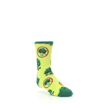 Image of Green Broccoli Monster Kid's Dress Socks (side-1-27)