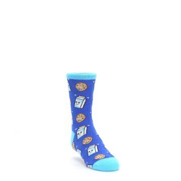 Blue Milk and Cookies Kids Dress Socks Socksmith