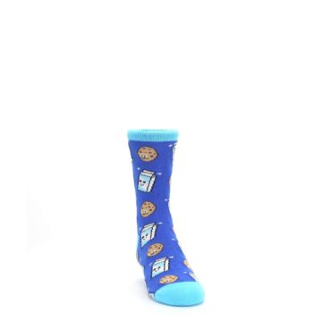 Image of Blue Milk and Cookies Kid's Dress Socks (side-1-front-03)