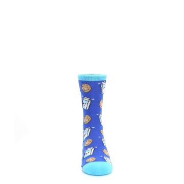 Image of Blue Milk and Cookies Kid's Dress Socks (front-04)