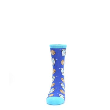 Image of Blue Milk and Cookies Kid's Dress Socks (front-05)