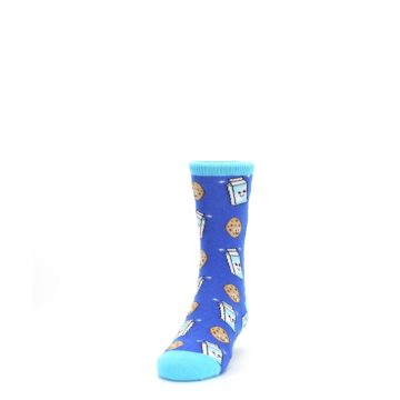 Image of Blue Milk and Cookies Kid's Dress Socks (side-2-front-06)