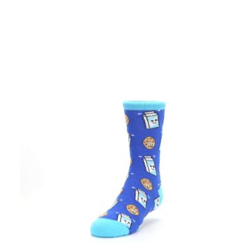 Image of Blue Milk and Cookies Kid's Dress Socks (side-2-front-07)