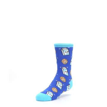 Image of Blue Milk and Cookies Kid's Dress Socks (side-2-front-08)