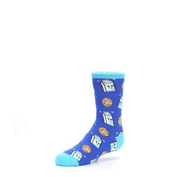 Image of Blue Milk and Cookies Kid's Dress Socks (side-2-09)