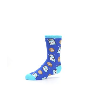 Image of Blue Milk and Cookies Kid's Dress Socks (side-2-10)