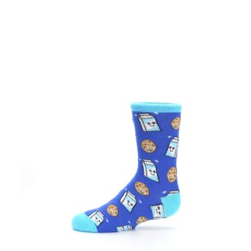 Image of Blue Milk and Cookies Kid's Dress Socks (side-2-11)