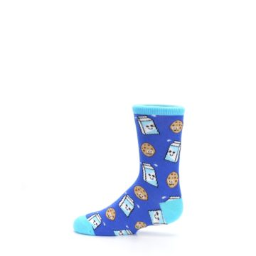 Image of Blue Milk and Cookies Kid's Dress Socks (side-2-12)