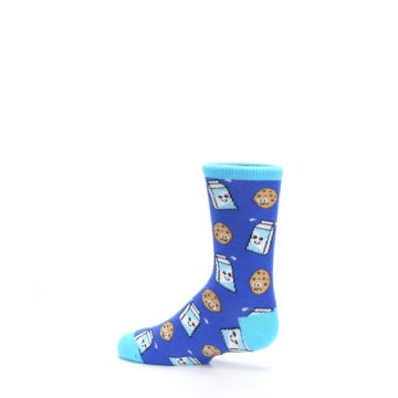 Image of Blue Milk and Cookies Kid's Dress Socks (side-2-13)